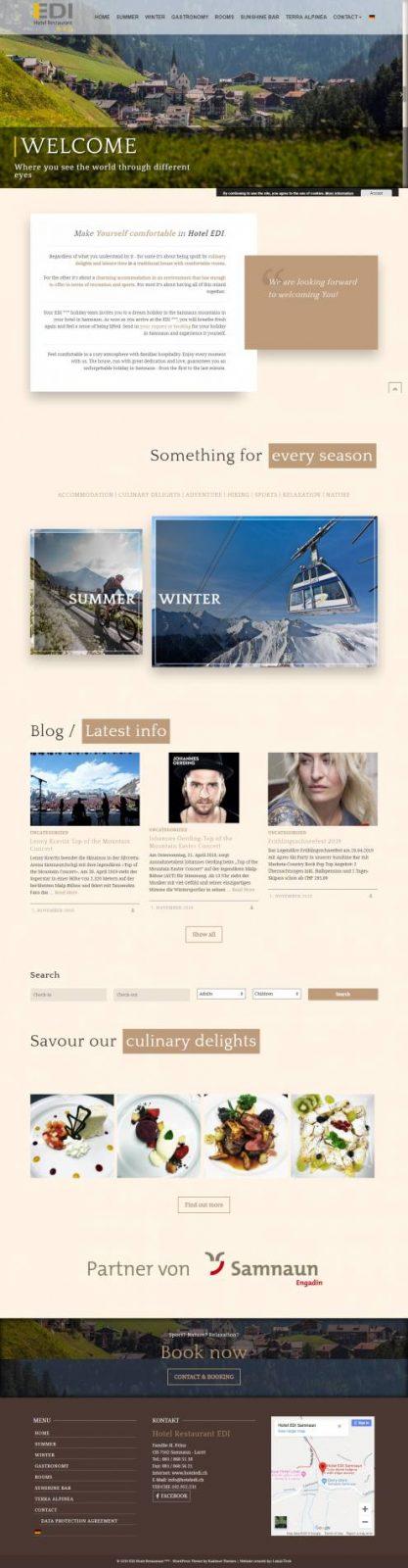 Webstránka pre Hotel - prezentácia +rezervačný systém 1