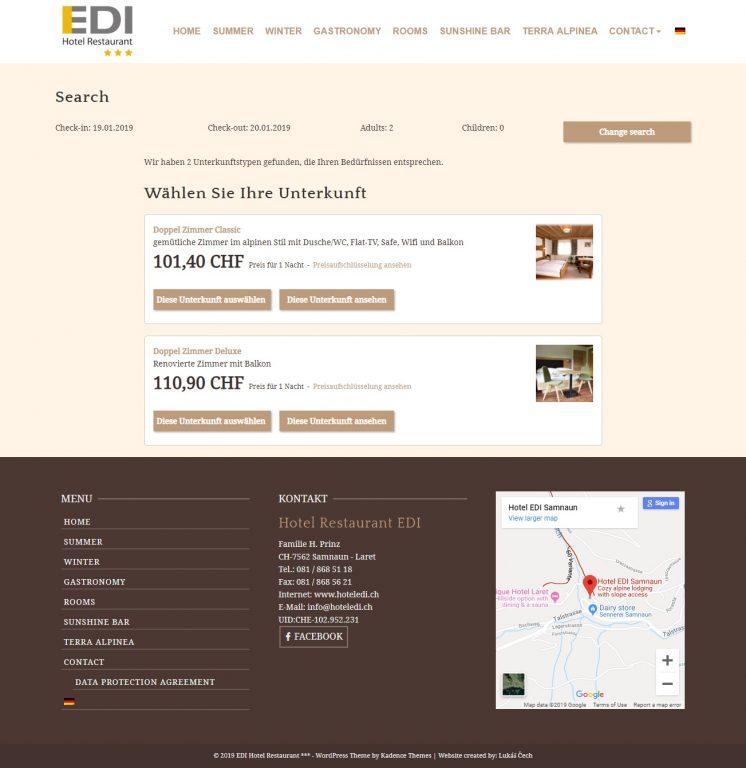 Webstránka pre Hotel - prezentácia +rezervačný systém 2