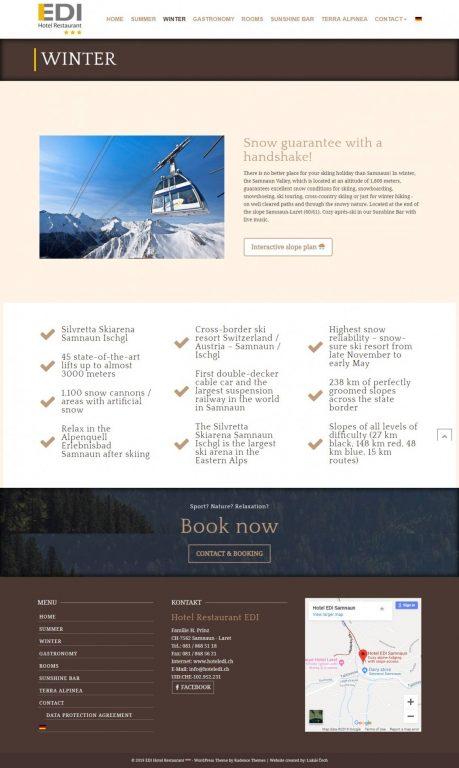 Webstránka pre Hotel - prezentácia +rezervačný systém 4