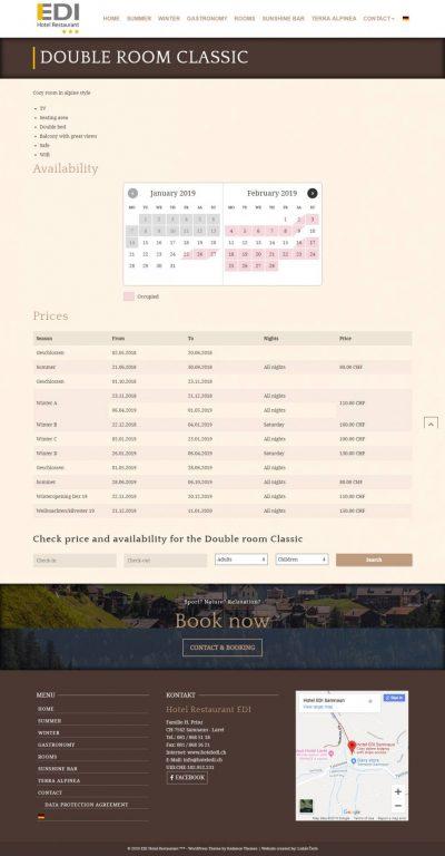 Webstránka pre Hotel - prezentácia +rezervačný systém 6