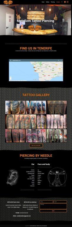 Tattoo štúdio Metalizmtattoo.com - portfólio umelca webstránka