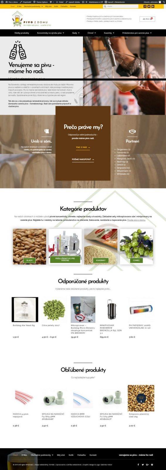 Eshop - Predaj potrieb pre výrobu piva 2
