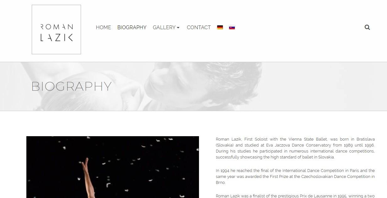 Webstránka pre portfólio umelca - Roman Lazik 3
