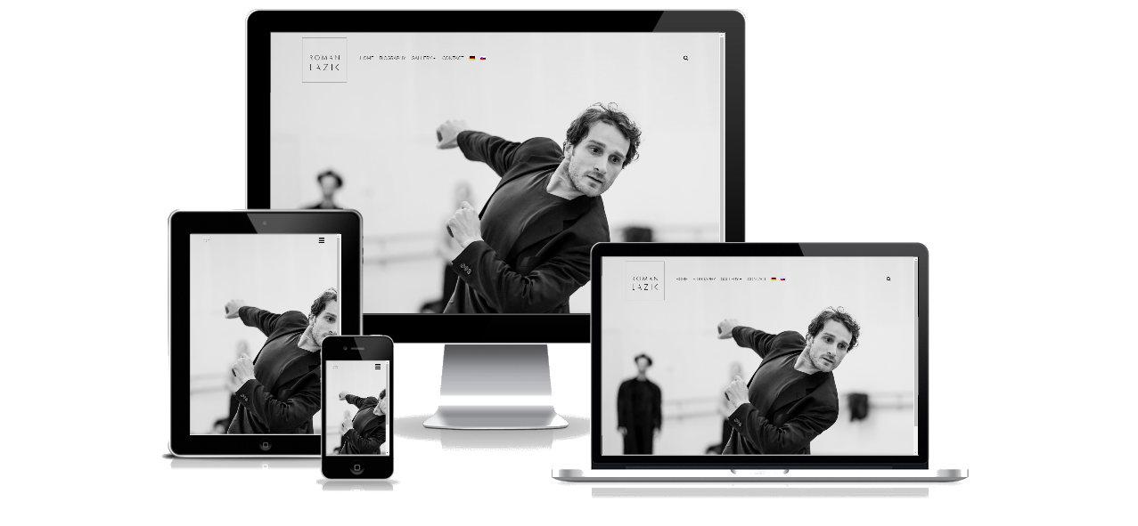 Webstránka pre portfólio umelca - Roman Lazik 1