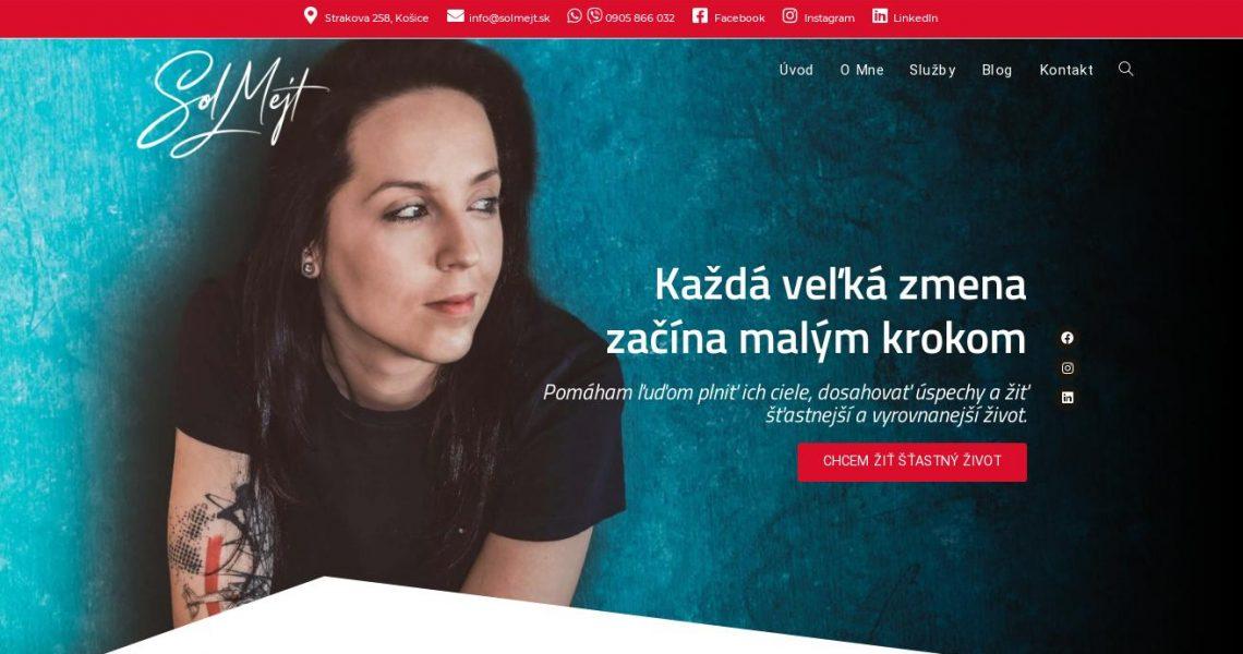 Služby koučky - portfólio webstránka 2