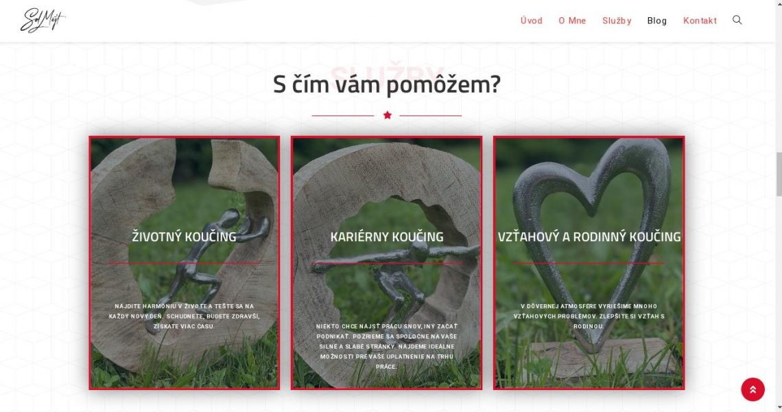 Služby koučky - portfólio webstránka 3